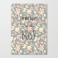 boss Canvas Prints featuring Boss  by Shelby Thompson