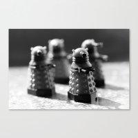 robots Canvas Prints featuring Robots by Emma Harckham