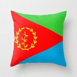Eritrea country flag Throw Pillow