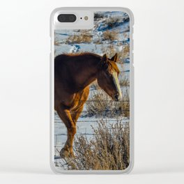 Winter Horse Clear iPhone Case
