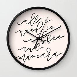 Coffee & Mascara Wall Clock