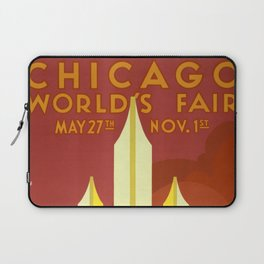 Chicago vintage poster Laptop Sleeve