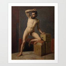Gustav Klimt - Male Nude Art Print