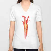 final fantasy V-neck T-shirts featuring Final Fantasy VIII by GIOdesign