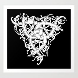 Ringerike Style Ornament II Art Print