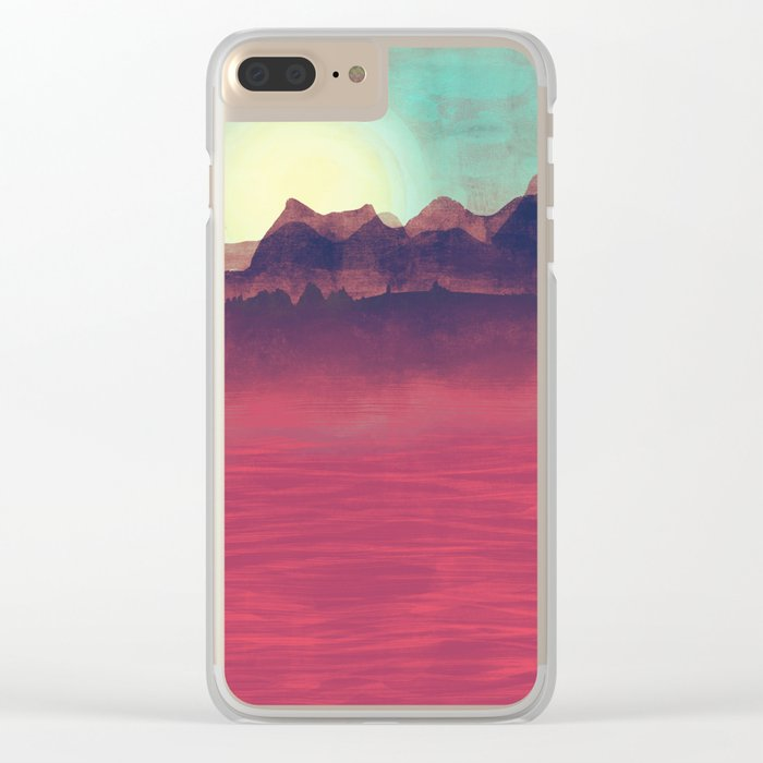 Distant Mountains Clear iPhone Case