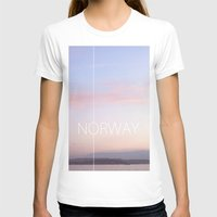 norway T-shirts featuring Norway by Hana Savana