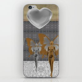 Fairies Worshipping Love iPhone Skin