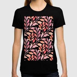 watercolor floral pattern T-shirt