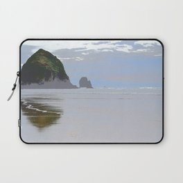 Illustrated Haystack Rock Laptop Sleeve
