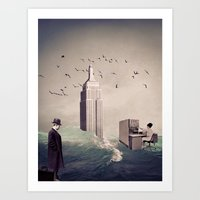 the life aquatic Art Prints featuring Life Aquatic by TRASH RIOT