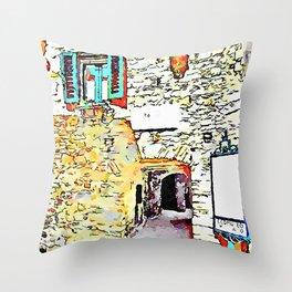 Vatolla: foreshortening of alley Throw Pillow