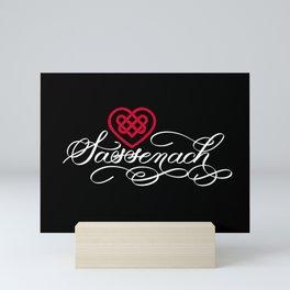 Sassenach with Red Celtic Heart (Dark) Mini Art Print