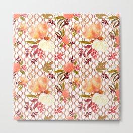 Lovely Floral Pattern Metal Print