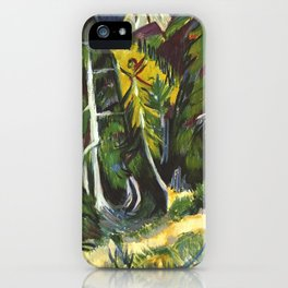Ernst Ludwig Kirchner Forest Gorge at Staffel c1938 iPhone Case