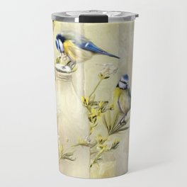 English Blue Tits Travel Mug