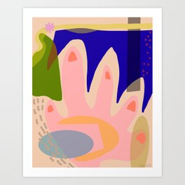 Shapes and Layers No.5 - Modernist abstract hand and shapes Art Print