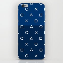 Playstation Controller Pattern - Navy Blue iPhone Skin