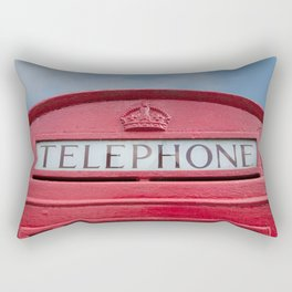 Red telephone box Rectangular Pillow