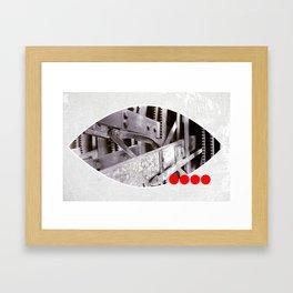 gears inside Framed Art Print
