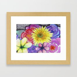 floral bouquet Framed Art Print