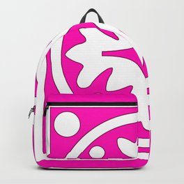 hot pink pattern Backpack