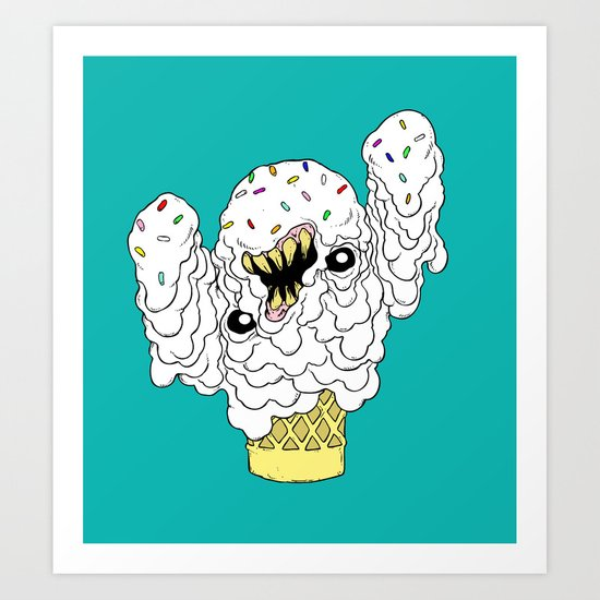 The Ice Cream Man Art Print