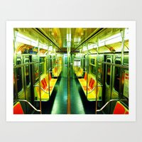 subway Art Prints featuring Subway  by Ashley White Jacobsen