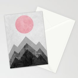 Landscape collage marble XVI Stationery Cards