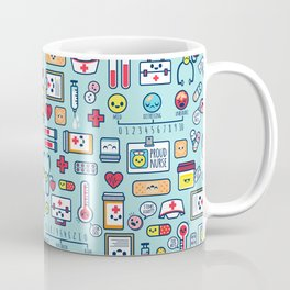 Proud To Be a Nurse Pattern / Blue Coffee Mug