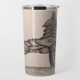 armored wolf Travel Mug