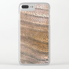 Warm Waved Wood Clear iPhone Case