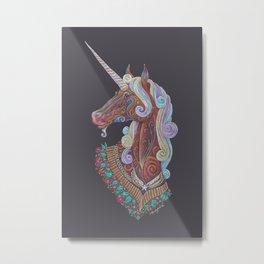 Unicorn Totem Metal Print