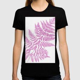 Pink Fern Modern Botanical T-shirt