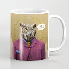 "Mr. Owl says: ""HOOT Happens!"" Coffee Mug"