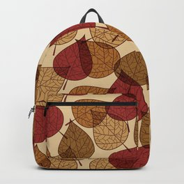 Drawing Beautiful Autumn Leaves Background Backpack