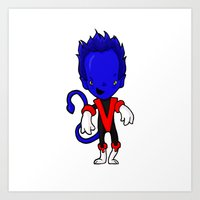 nightcrawler Art Prints featuring NIGHTCRAWLER by Space Bat designs