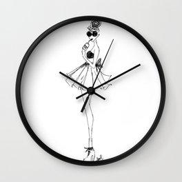 Soda Fountain Babe Wall Clock