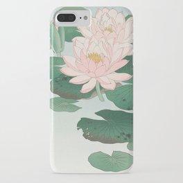 Water Lilies - Japanese vintage woodblock print iPhone Case