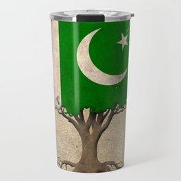 Vintage Tree of Life with Flag of Pakistan Travel Mug