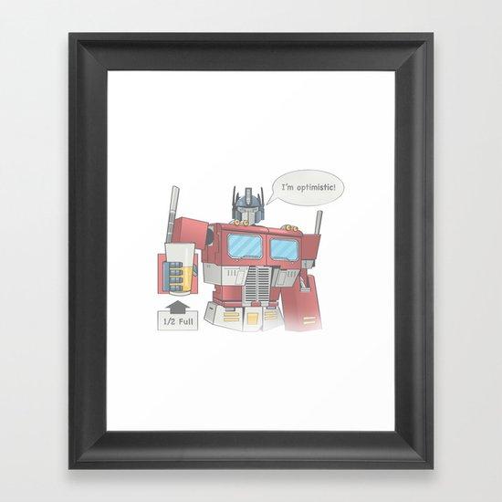 Optimistic Prime Framed Art Print