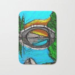 Bridge Reflection Marker #2 colored Bath Mat