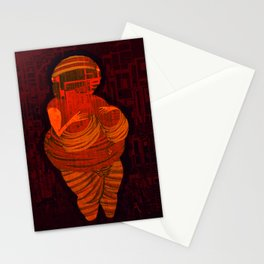 Echoes from the past, Venus of Willendorf, that go to the future, Version by Menchulica Stationery Cards