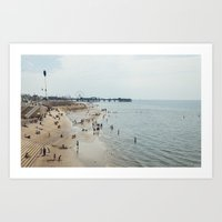 People by the sea Art Print
