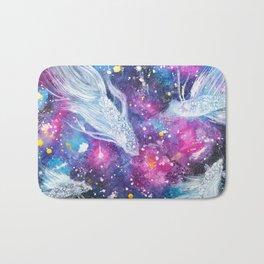 Galaxy Bettas Swimming Through Space Bath Mat