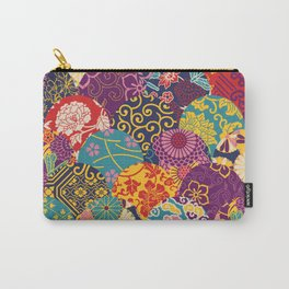 Japanese Wave Seigaiha Seamless Patterns Symbols Carry-All Pouch