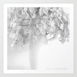 Hydrangea Still Life in Black and White #decor #society6 #buyart Art Print