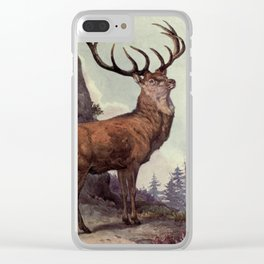 Vintage Red Deer Painting (1909) Clear iPhone Case