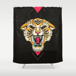 Tiger 3 Eyes Shower Curtain