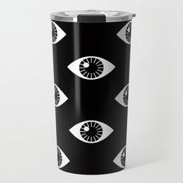 EYES WIDE OPEN ON BLACK Travel Mug